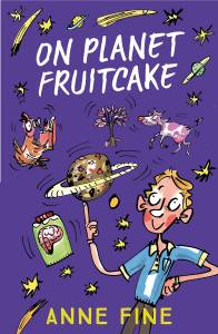 The cover of 'On Planet Fruitcake'